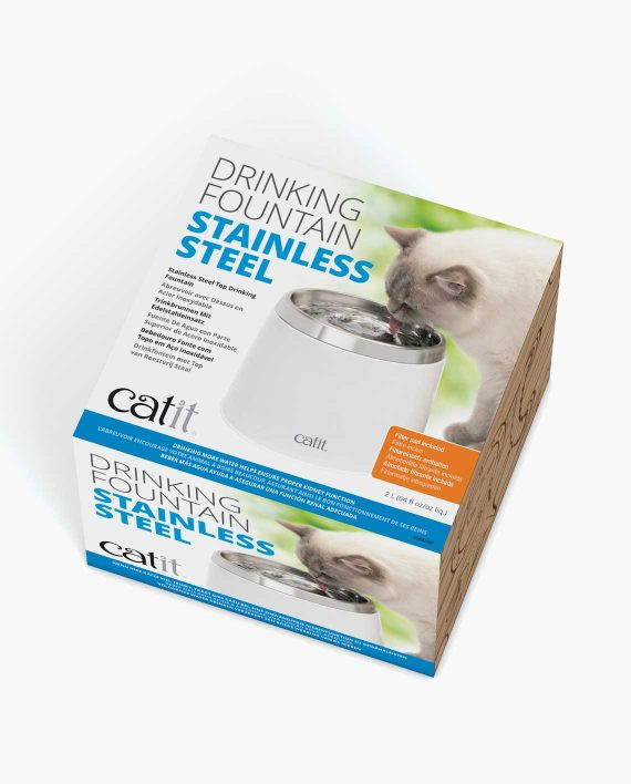 Stainless steel drinking fountain packaging