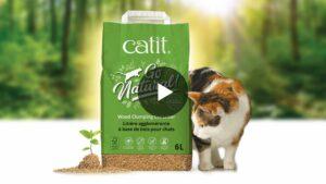 Catit Go Natural Wood Litter video