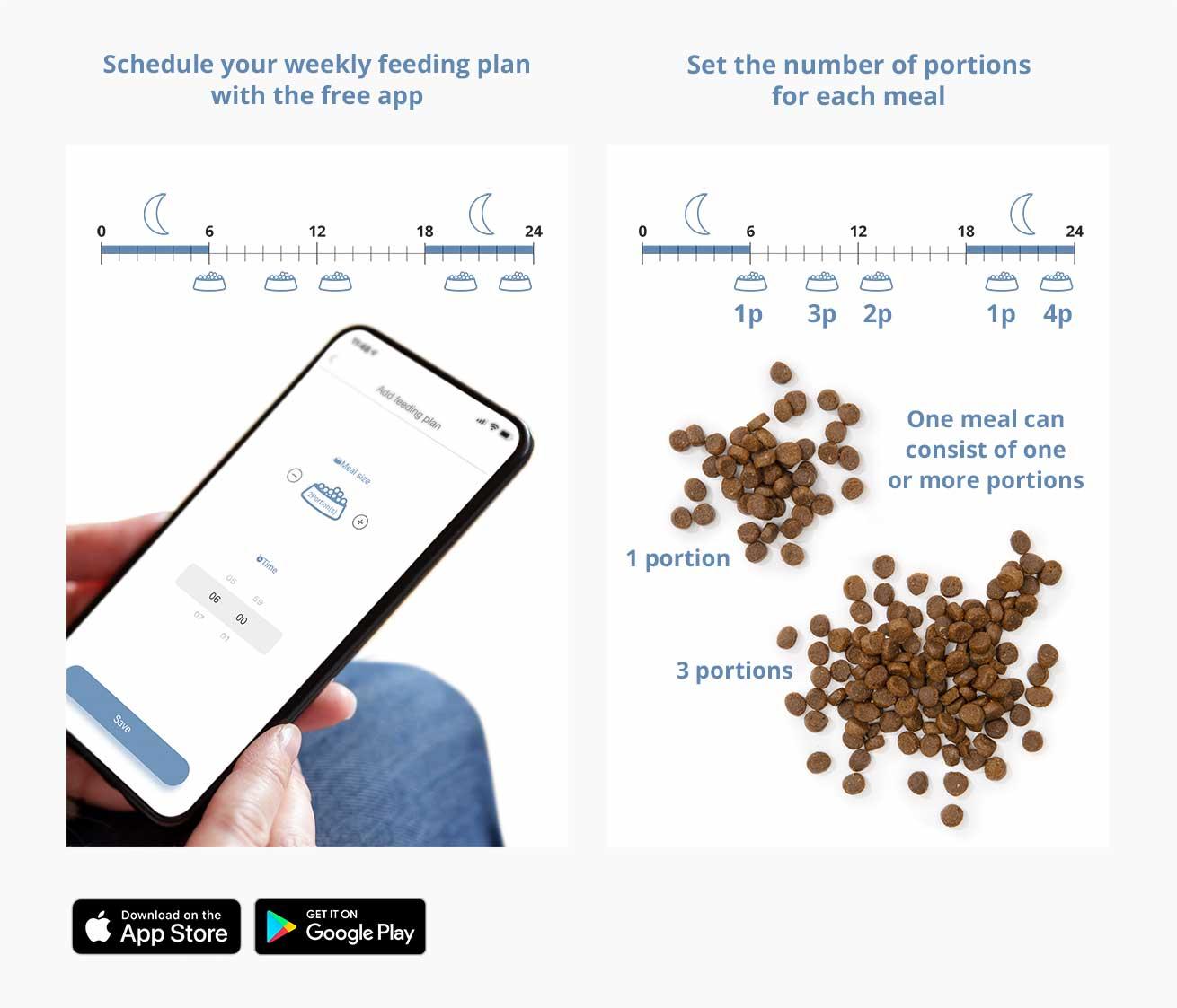 Set up a weekly feeding plan