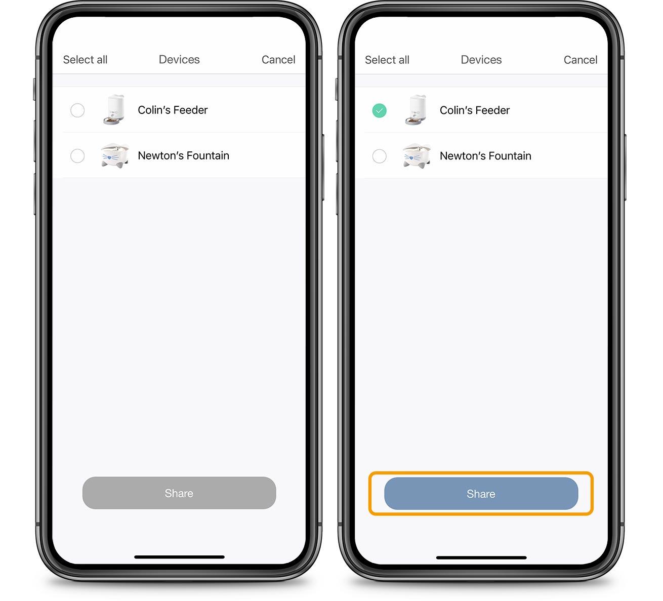 PIXI App Account Share Device