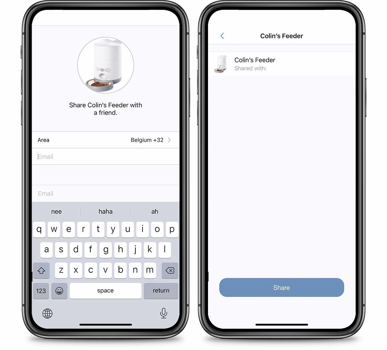 PIXI App Share device