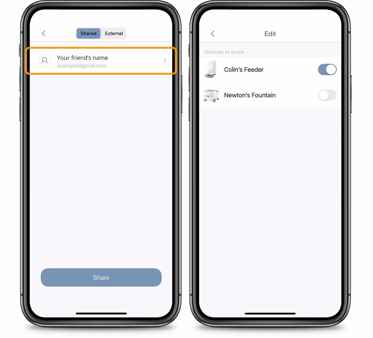 PIXI App Account Device Sharing