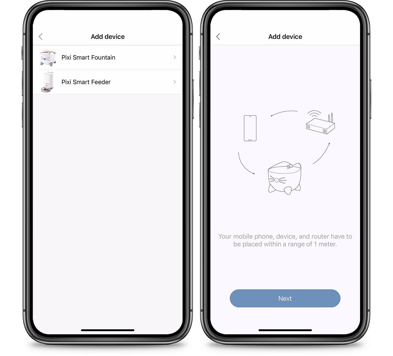 PIXI App Add device instructions
