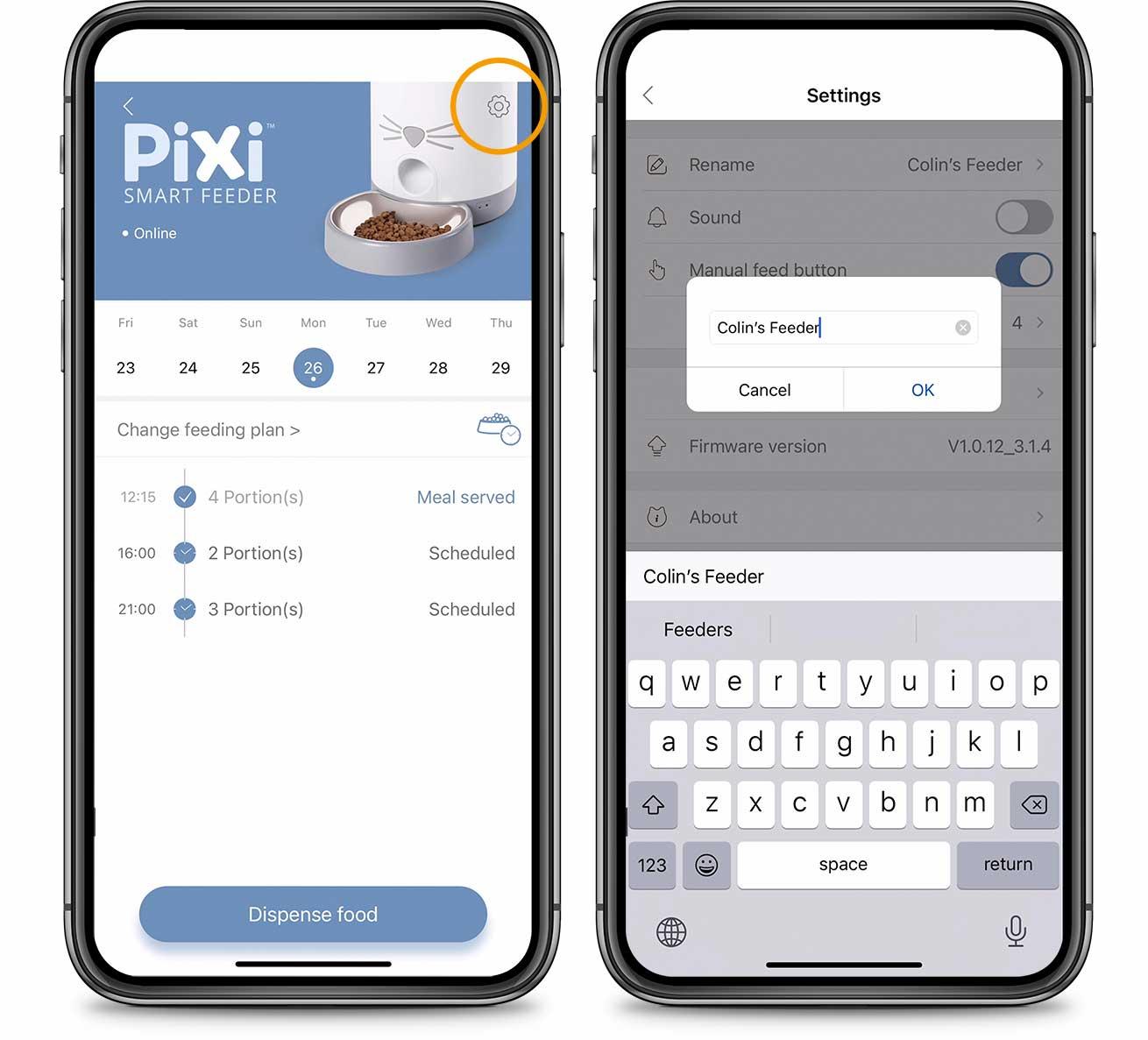 PIXI App Rename Device