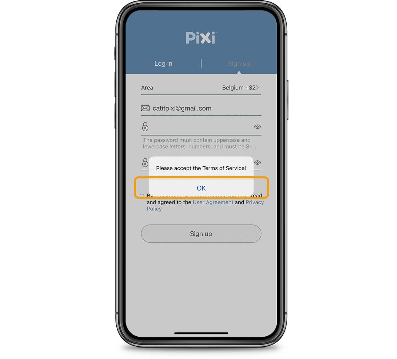 PIXI App terms of service