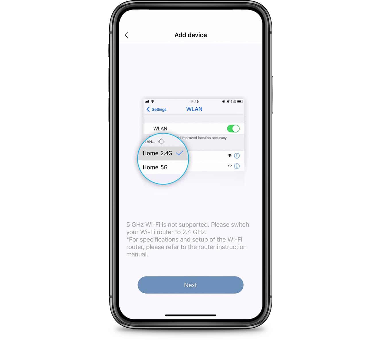 PIXI App wifi signal